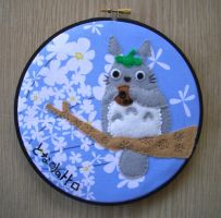 Totoro playing Ocarina Hoop by iggystarpup