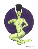 Bride of Frankenstein Pinup by Coulterish