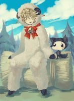 Sheep and Wolf by Celsa