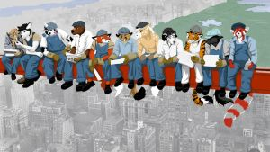Furs on a Skyscraper by TadCougar