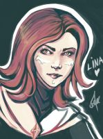 Quick Lina by cartoonmaniack