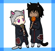 Kakuzu and Hidan Lollypop's by Itachei