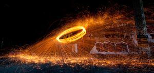 Wire wool spinning 1 by AngiWallace