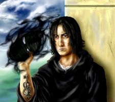 Snape Death Eater :young: by neysha-sheyla