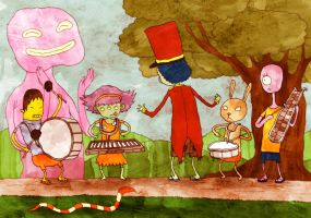 Drum and Lyre Band by avid