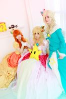 Super Mario - Peach, Daisy and Rosalina by busanpanda