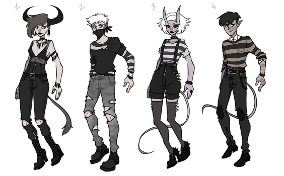 Almost monochromatic adoptables CLOSED] by Patie-Adoptables