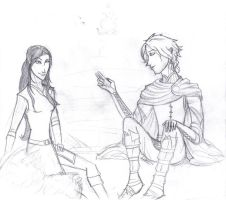 Eragon and Arya again... by ElizaLento