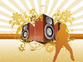 Speaker With Floral by septian93