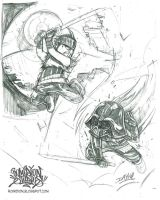 5 Days of Awesome 2-1 Vader Vs Hayato by romidion
