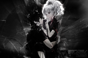 Darker than Black Yin x Hei 1920 x 1280 by skeptec