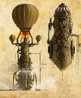 Steampunk Space Shuttles by cgfelker