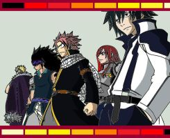 Fairy tail's new team (updated) by streetzdanzer