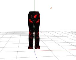 mmd bloody pants male by RoxaDragonsoul
