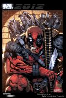 Deadpool trading card by juan7fernandez