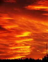 burning sky by Attila-G