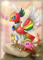 Dynablade and Wing Kirby by StarFaerieNomad