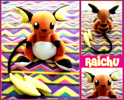 Raichu Plush by Allyson-x