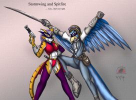 Here's Stormwing and Spitfire by Snowfyre