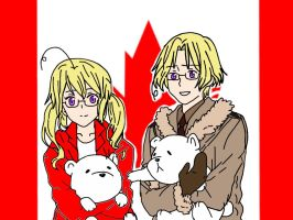 Manitoba and her Brother Canada by heartofthewarrior13