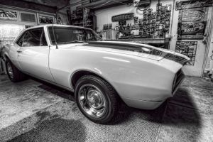 '67 Camaro Black and White by Doogle510