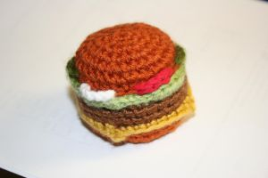 Cheeseburger Cat Toy Pattern by Silvermoose