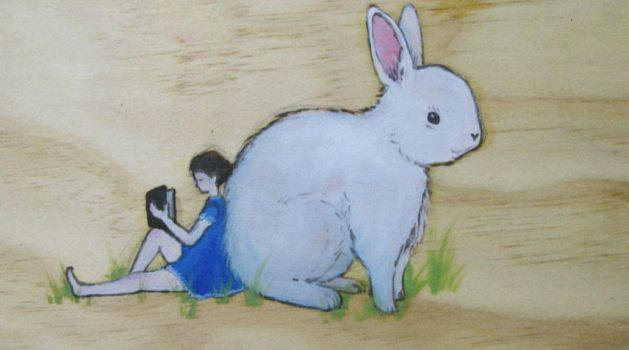 rabbit on wood by like-textas