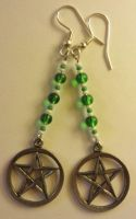 Pentacle Earrings by AdnilemsAdornments