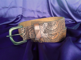 Tooled Leather Belt C001 by mcd-82