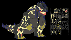 Primal Groudon papercraft model (shiny) by javierini