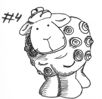 04 INKTOBER 2014 - Sheep by photograph1c
