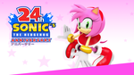 Sonic 24th Anniversary Wallpaper - Amy - by NuryRush