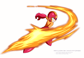 Megaman 8 - Flame Sword by innovator123