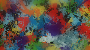 Rainbow Dash Ink Splatter Wallpaper by AlphaMuppet