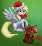 Derpy Christmas Delivery by LaurenMagpie