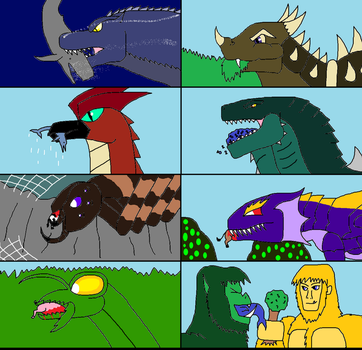 Islands of Monsters Eating by Sci-fiman2xxx