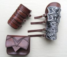 Altair Leather Accessories Pt1 by senorwong