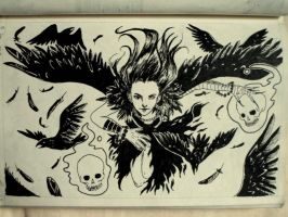 (9) Flying with crows by oodell