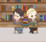 [Fest gifts] Library Fluff by Cremebunny