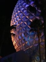 Epcot on Christmas Eve by jitterfly