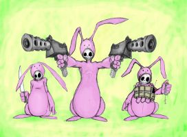 The death bunny kill squad... by mrpip