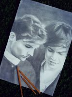 Louis Tomlinson and Harry Styles by LauraKordikova