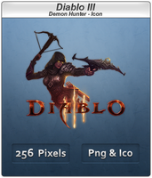 Diablo III - Demon Hunter Icon by Crussong