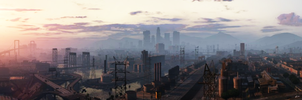 Los Santos in the Morning (Grand Theft Auto V) by stuckart