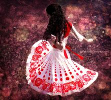 Spinning in Red by PaleScarlet