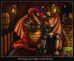 Dragon, Knight, Alcohol by DarthFar