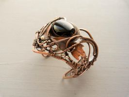Wire copper bracelet  Thistle by UrsulaOT