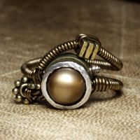 steampunk jewelry ring Z by CatherinetteRings
