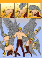 The Hawkmen Get Their Wings by WibbitGuy
