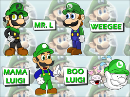 Luigi's Forms of Awesome by UMSAuthorLava